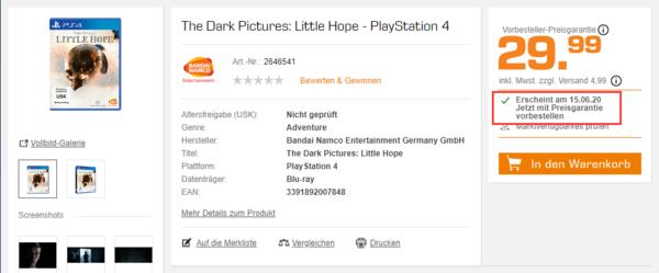 德国零售商上架《黑暗影集:希望渺茫》 6月15日发售