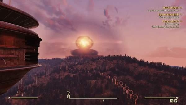 《辐射76》新DLC居民核爆试验 自动换装,状若无事