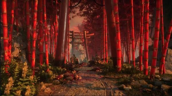 《影子武士》开发商新作截图 红色竹林鸟居画面唯美