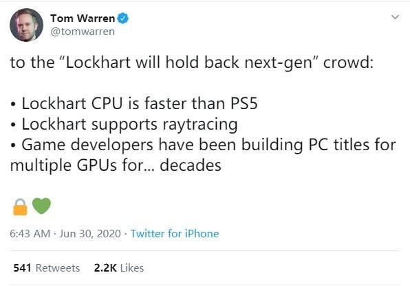 低配版次世代Xbox新消息曝光 CPU比PS5快,支持光追
