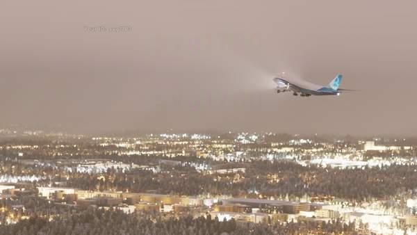 """《微软模拟飞行》新截图 """"空中皇后""""波音747翱翔天际"""