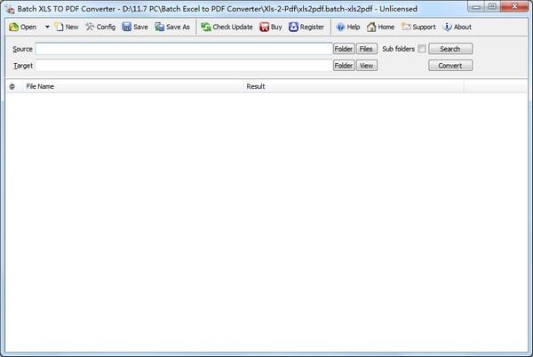 Batch XLS TO PDF Converter(XLS到PDF转换器)