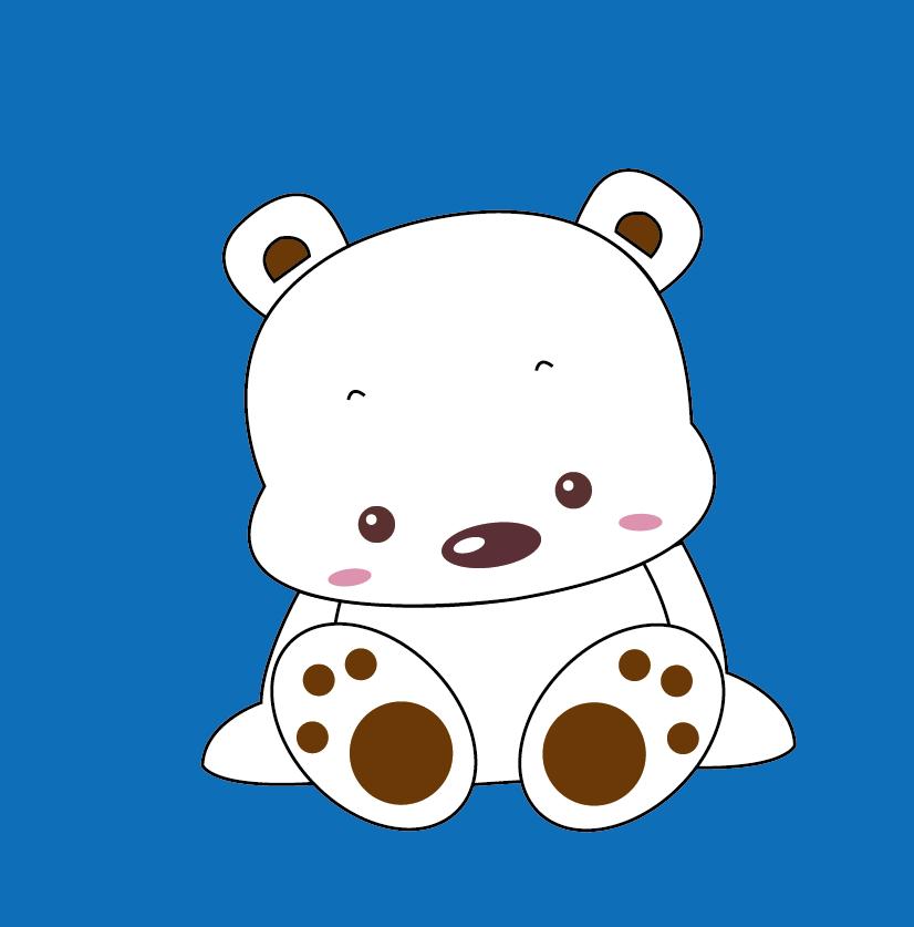 ai绘制北极熊的操作方法截图
